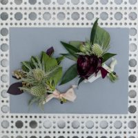 modern wedding boutonnieres - KVC Photography