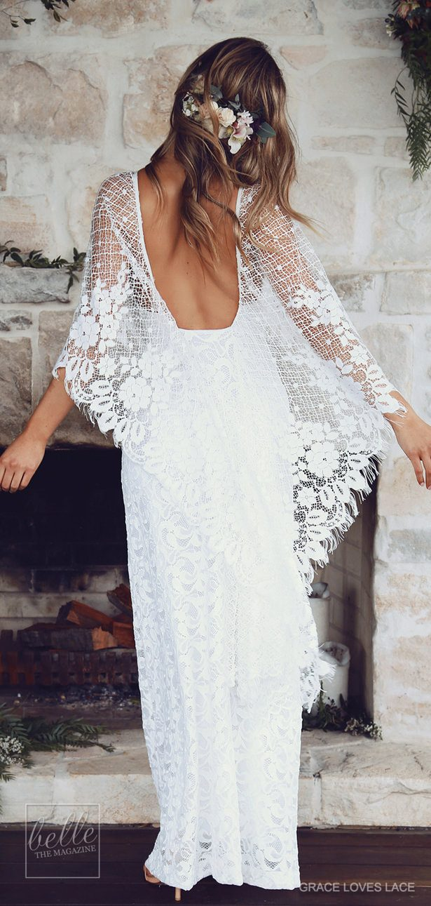 Rustic wedding dress by Grace Loves Lace