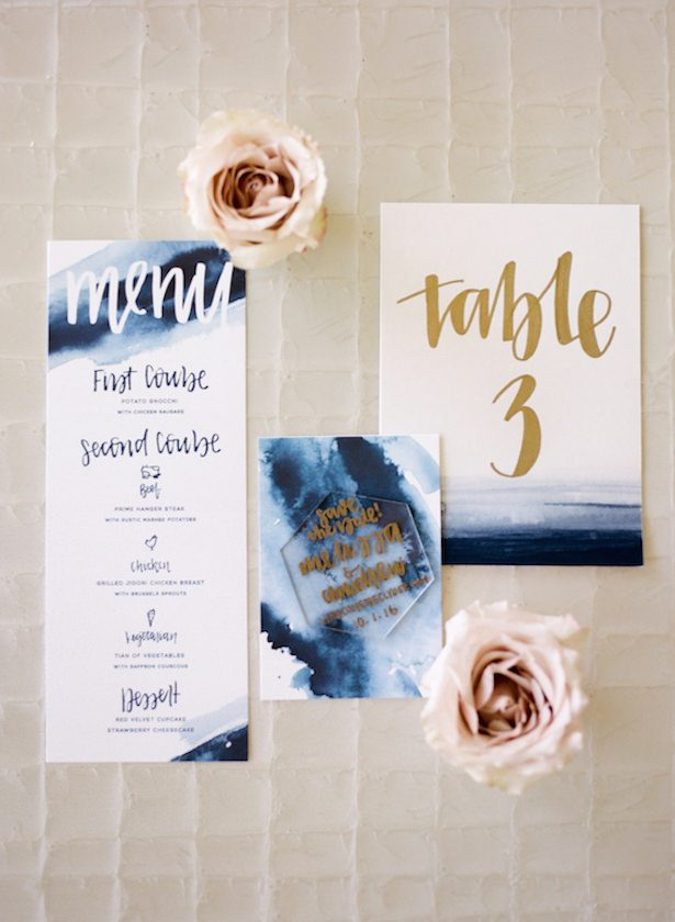 Metallic Wedding Stationary - Photography: Anna Delores Photography