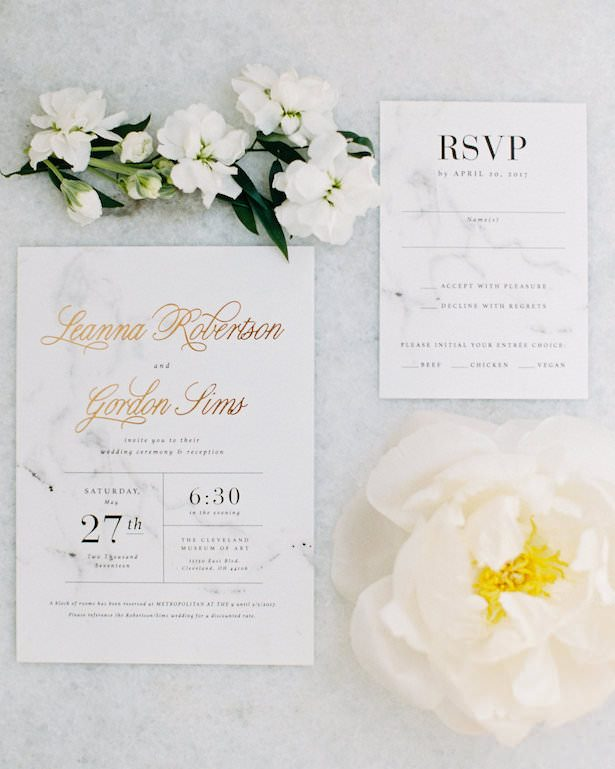 Metallic Wedding Stationery - A Charming Fête - Jenny Haas Photography 2