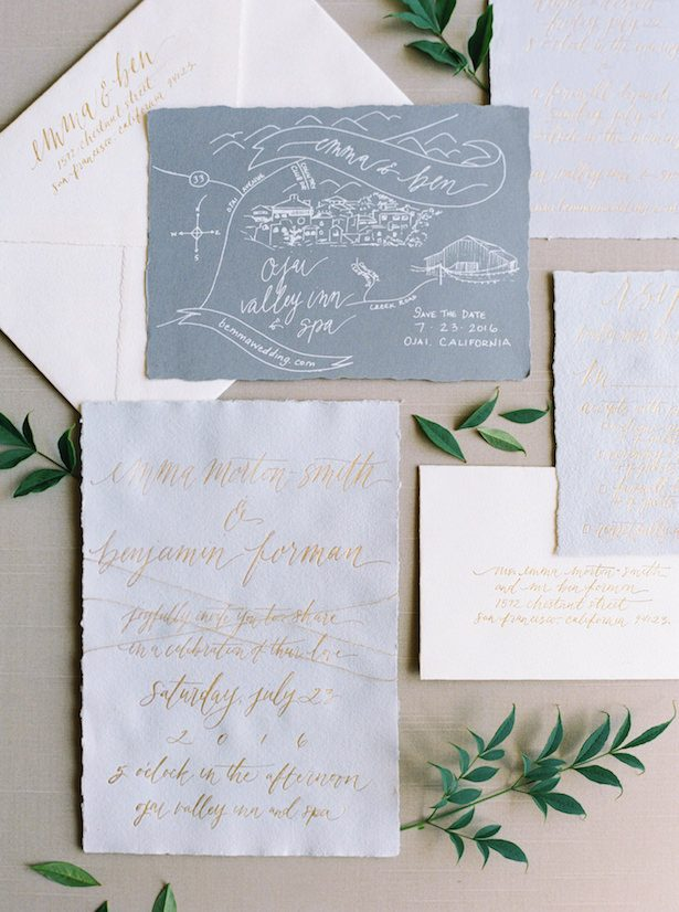Metallic Wedding Stationary - All You Need is Love Events - Erich McVey Photography