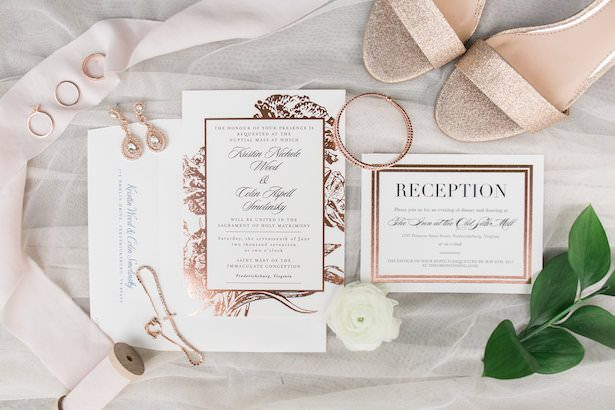 Metallic Wedding Stationary
