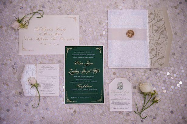 Metallic Wedding Stationary - Infinite Events - Benedict Verley Photography