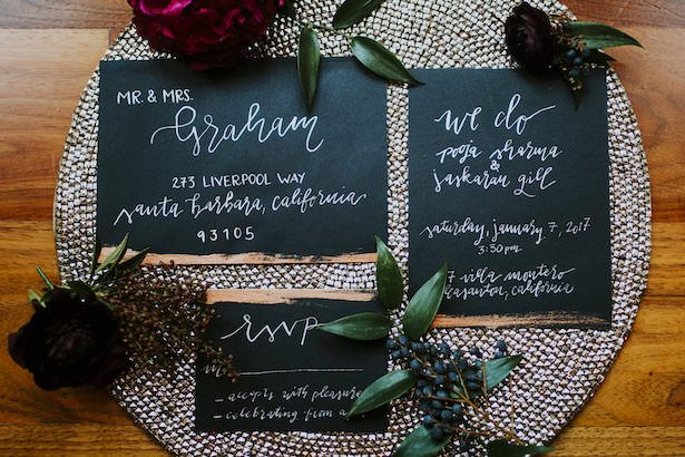 Metallic Wedding Stationary - Plan My Wedding Please - Nataly Zigdon Photography - Florals by Blair Dugan - Design by Naseem Events
