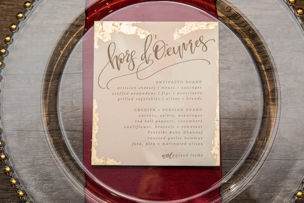 Metallic Wedding Stationary - Photography: Timothy Glenn Photography