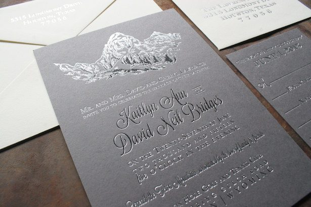 Metallic Wedding Stationary - xowyo Paper and Press