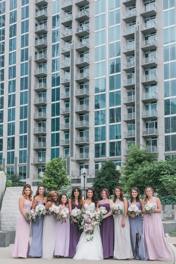 Ultra Violet Modern Bridal Party - Casey Hendrickson Photography