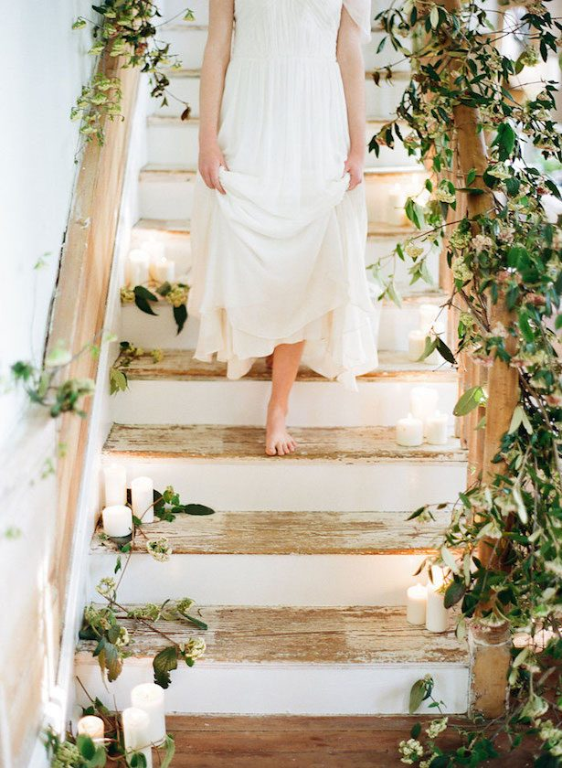 Wedding Staircase Decor - KRISTEN LYNNE PHOTOGRAPHY