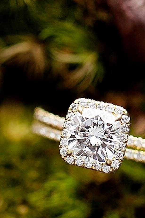 Diamond Engagement Ring - cushion cut engagement rings with diamond halo - Brilliant Earth