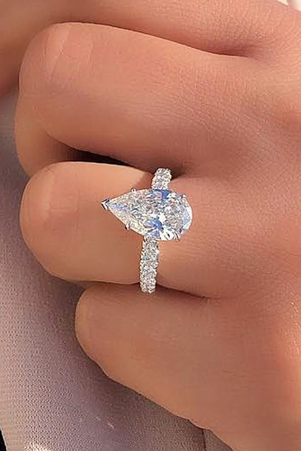 Diamond Engagement Ring -pear cut solitaire white gold - Joe Escobar Diamonds