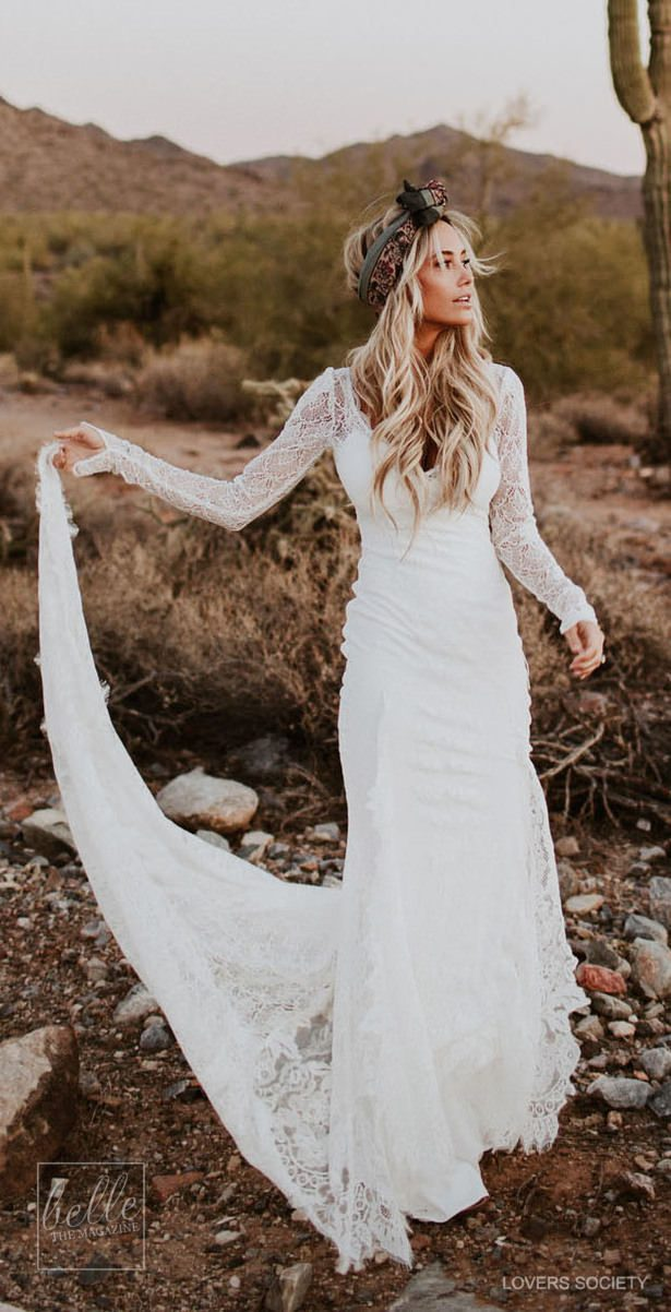 Rustic wedding dress by Lover Society