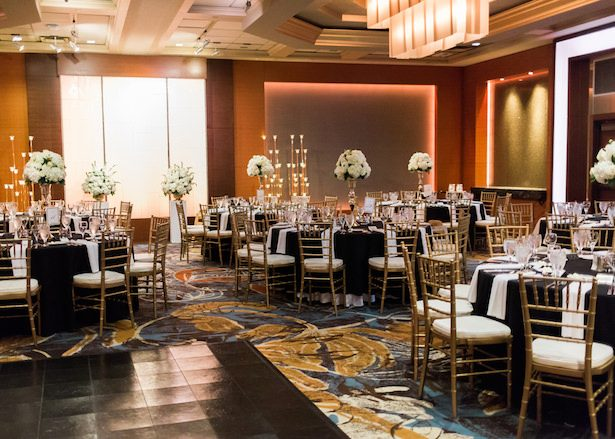 Black and gold wedding reception - Alexandra Knight Photography