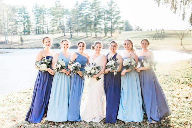 Blue Bridesmaid Dresses - Lieb Photographic