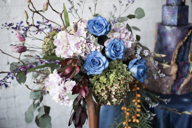 Blue and purple wedding flowers - Vanessa Anne Photography