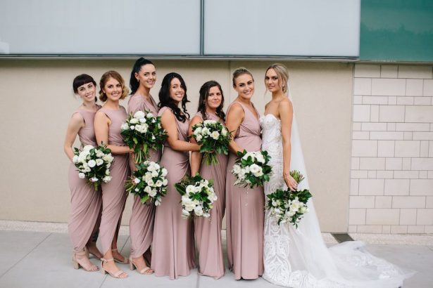 Blush bridesmaid dresses - Photography: Prue Franzman