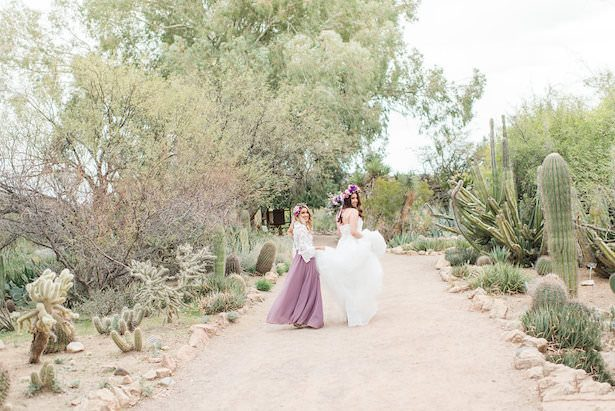 Bohemian bride and bridesmaid photo - Jade Min Photography LLC