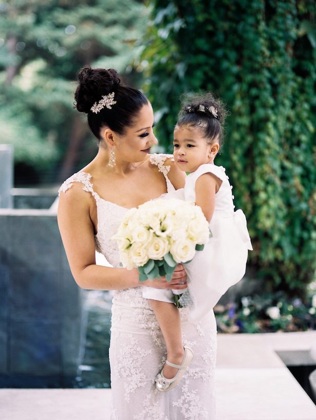 Bride and daughter - Alexandra Knight Photography
