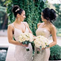 Bride and maid of honor - Alexandra Knight Photography