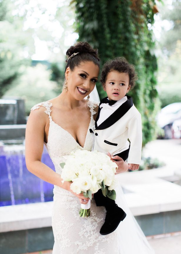Bride and son - Alexandra Knight Photography