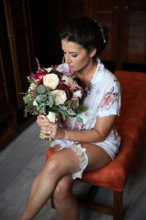 Bride getting ready for wedding day photo - Tab McCausland Photography