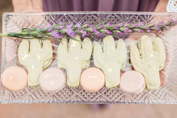 Cactus cookies and french macaroons - Jade Min Photography LLC