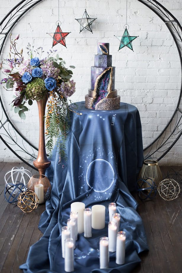 Celestial Wedding Cake Table - Vanessa Anne Photography