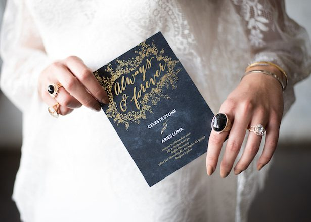 Celestial Wedding Invitation - Vanessa Anne Photography