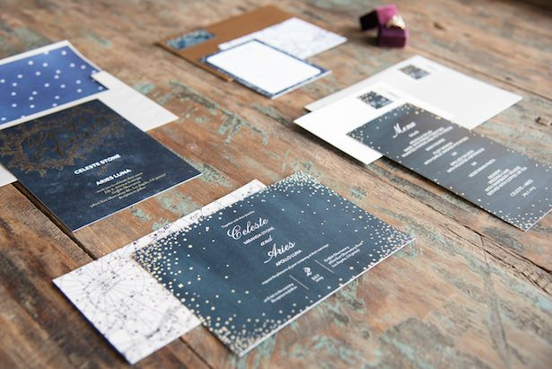 Celestial Wedding Invitations - Vanessa Anne Photography