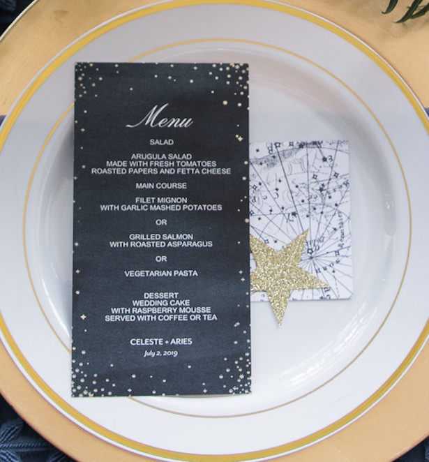 Celestial Wedding Menu by Shutterfly - Vanessa Anne Photography