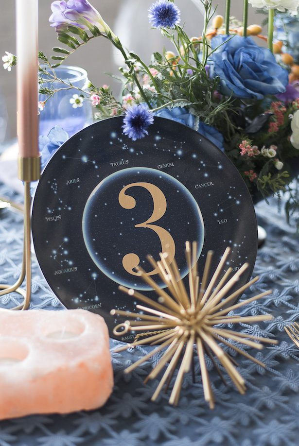 Celestial Wedding Table Number - Vanessa Anne Photography
