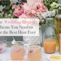 The Wedding Registry Items You Need to Be the Best Host Ever - Crate and Barrel