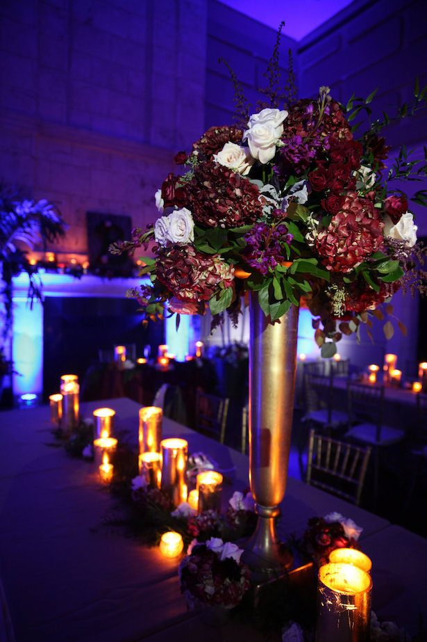 Elegant tall wedding centerpiece - Tab McCausland Photography