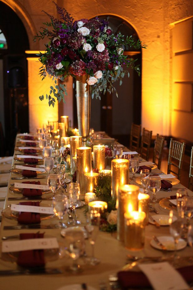 Elegant wedding table decorations - Tab McCausland Photography