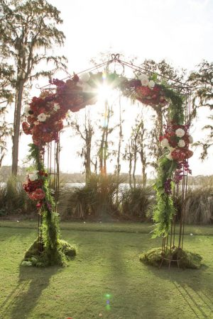 Floral Ceremony Arch Decoration - Tab McCausland Photography