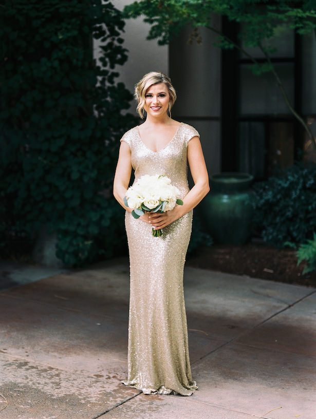 Gold bridesmaid dress - Alexandra Knight Photography