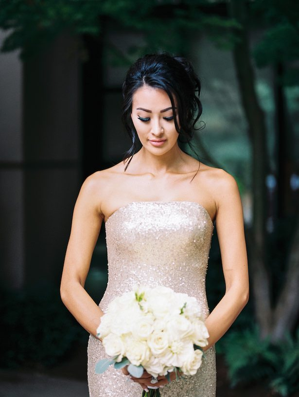 Gold bridesmaid dress -Alexandra Knight Photography