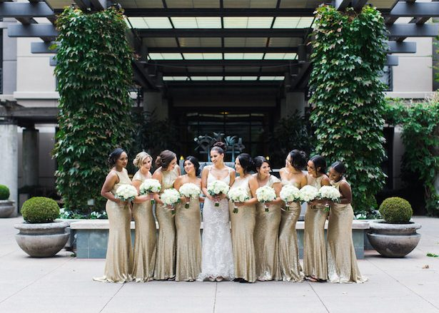 Gold bridesmaid dresses - Alexandra Knight Photography
