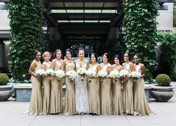 Sophisticated Black and Gold Wedding