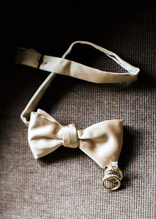 Gold wedding bowtie - Alexandra Knight Photography