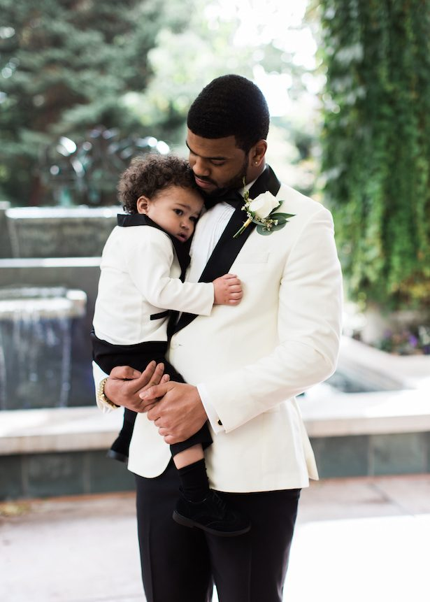 Groom and son - Alexandra Knight Photography