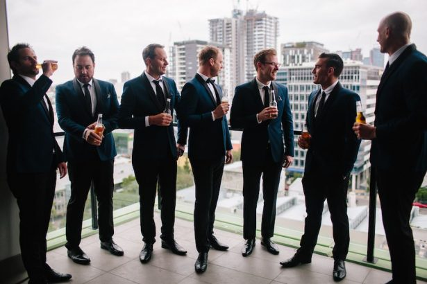 Groomsmen in Navy Blue Suits - Photography: Prue Franzman