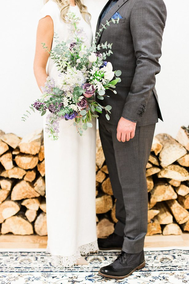 Icy pastel wedding bouquet - Esther Funk Photography