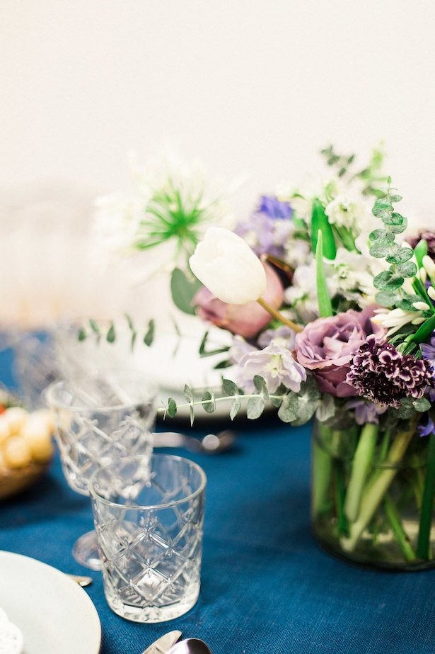 Icy pastel wedding centerpiece - Esther Funk Photography