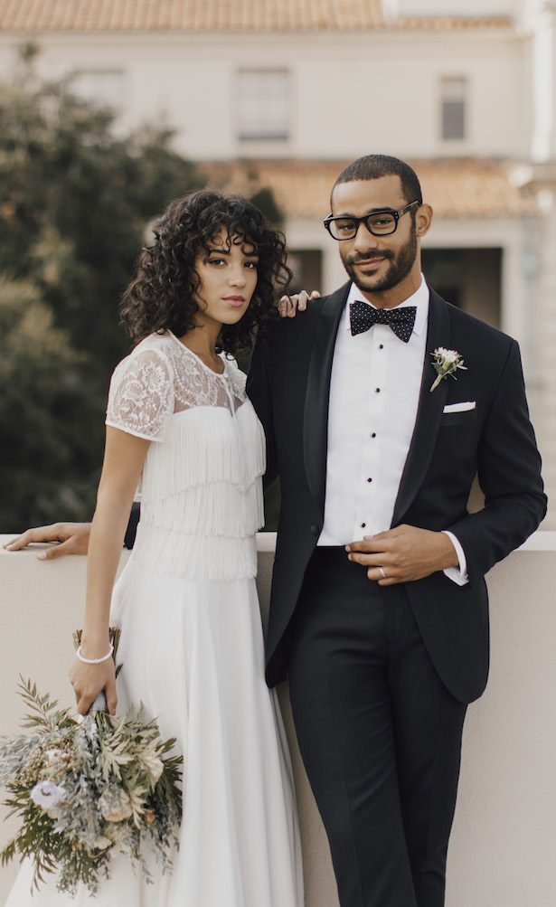 Modern Wedding Day Look by The Black Tux