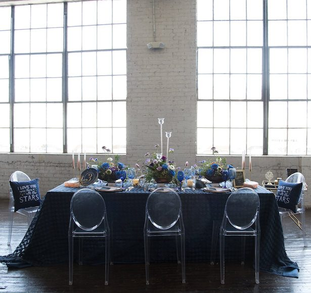 Navy Blue Wedding Tablescape - Vanessa Anne Photography