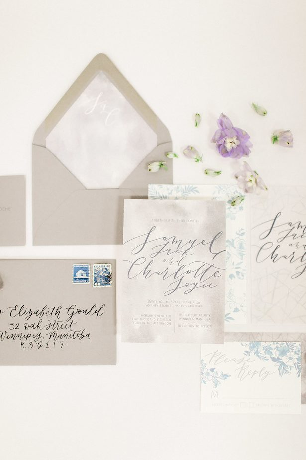 Pastel wedding invitations - Esther Funk Photography