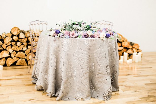 Pastel wedding sweetheart table - Esther Funk Photography