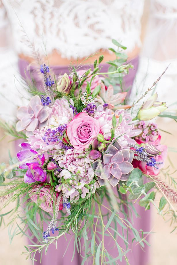 Purple Wedding Bouquet - Jade Min Photography LLC