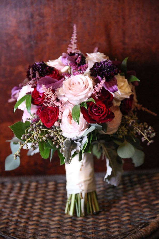 Purple and pink wedding bouquet - Tab McCausland Photography