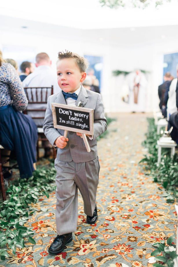 Ring Bearer Sign - Lieb Photographic